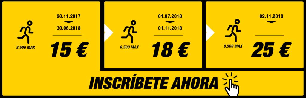 Inscripciones 10K Valencia