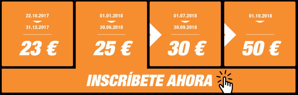 Inscripciones Precio Medio Maratón Valencia 2018