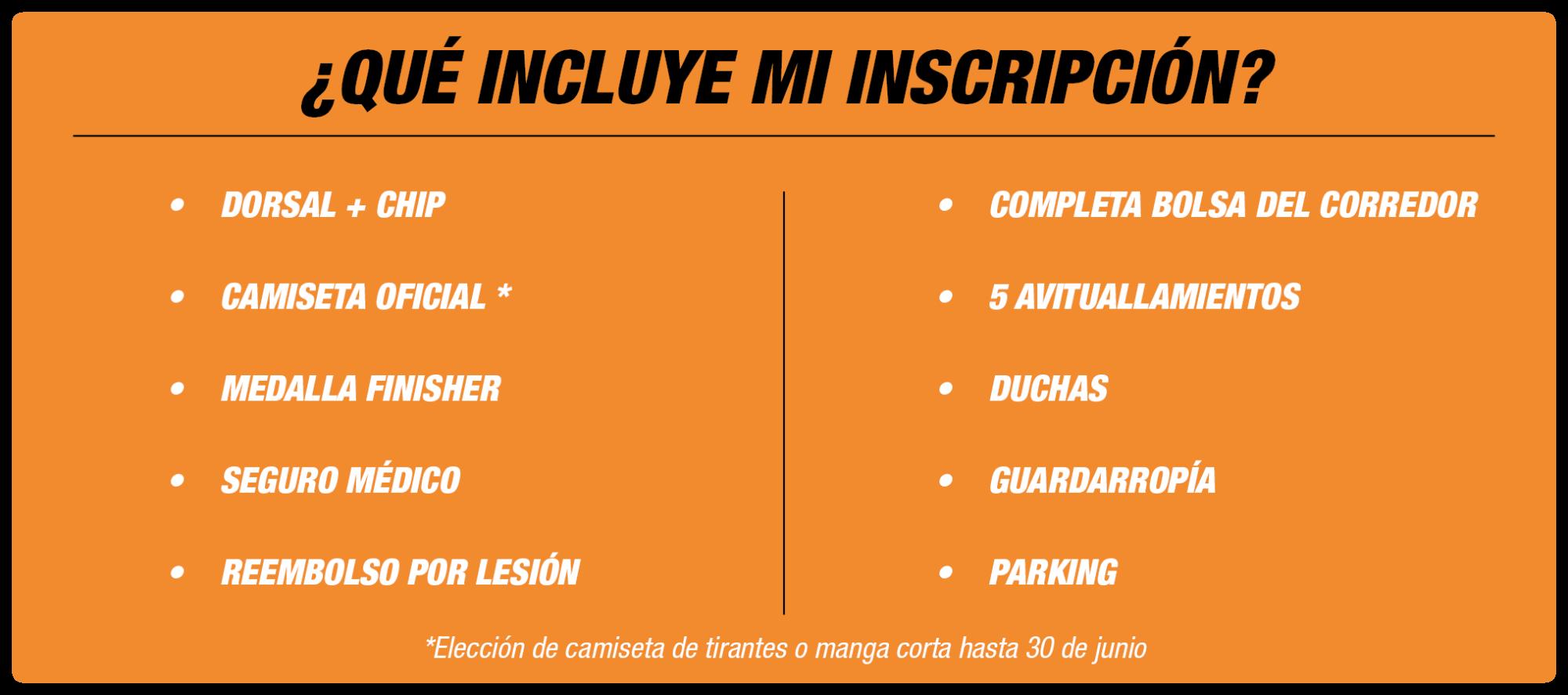 Qué incluye Inscripción Medio Maratón Valencia 2020