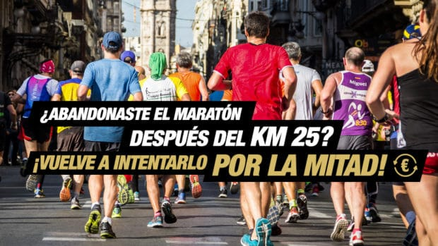 Finish what you started on the 2nd of December 2018 in the Valencia Marathon