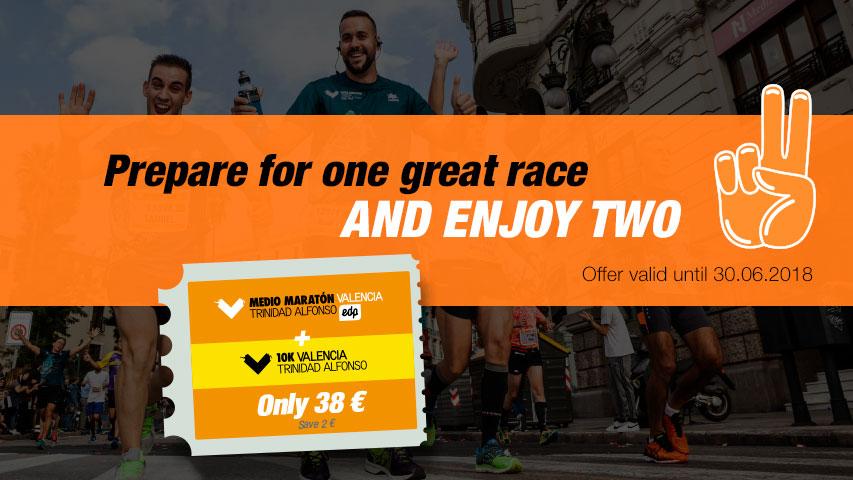 Races Pack Valencia Marathon and Half Marathon