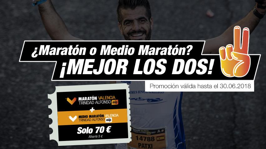 Pack Medio Maratón y Maratón Valencia