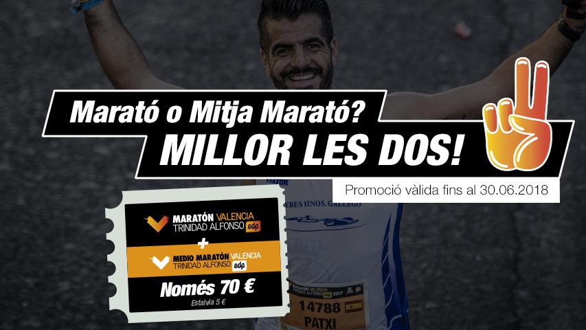 Pack Marato i Mitja Marato Valencia