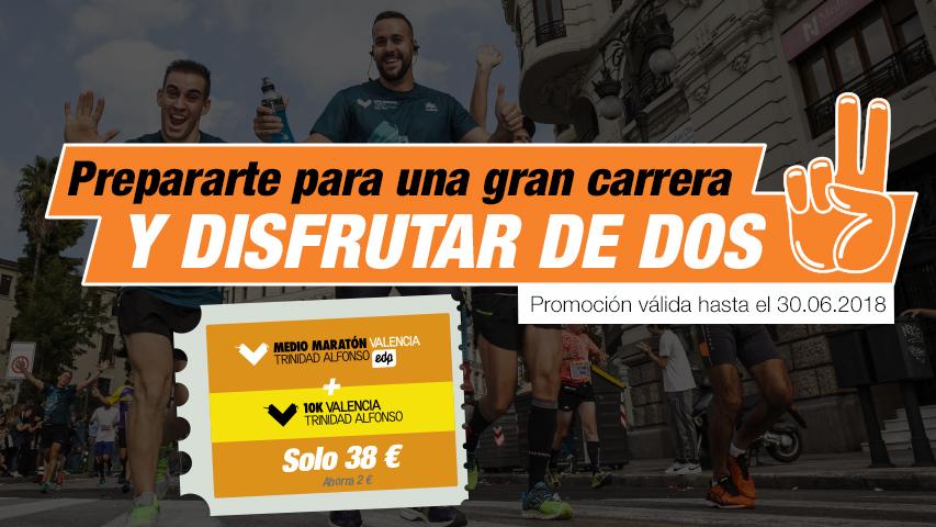 Pack Inscripciones Medio Maratón Valencia y 10K