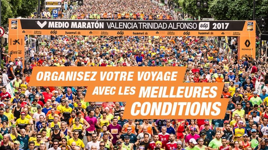 Organisez voyage Valencia Half Marathon
