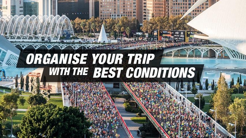 Organise your trip Valencia Marathon