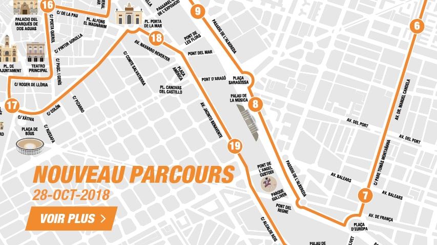 Nouveau Parcours Semi Marathon Valencia 2018