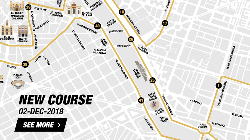New Course Valencia Marathon 2018