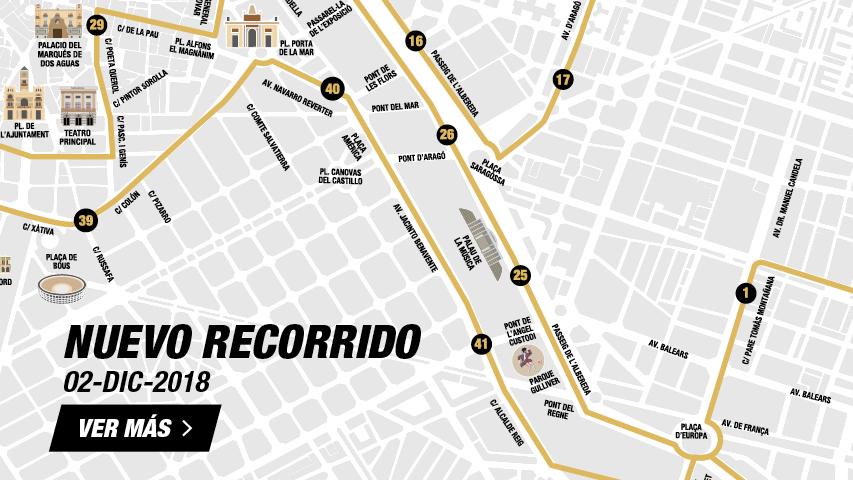 Nuevo Recorrido Maratón Valencia 2018