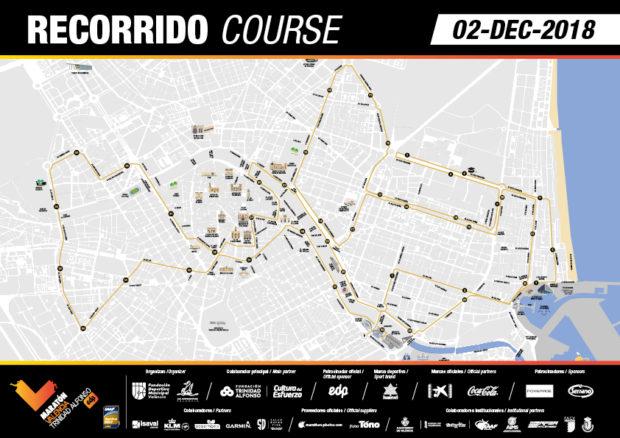 Recorrido Maratón Valencia 2018
