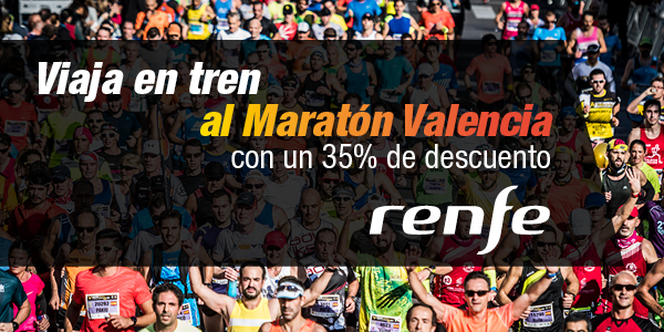 RENFE Rail Discounts for the Valencia Marathon 2018