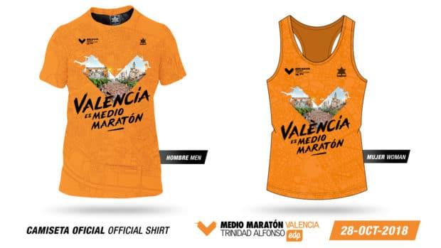 Camiseta Medio Maratón Valencia 2018