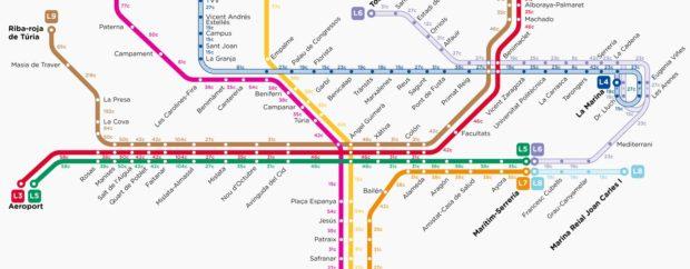 Metro Valencia calorias andar correr