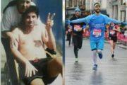 Riccardo, de una silla de ruedas a correr el maratón