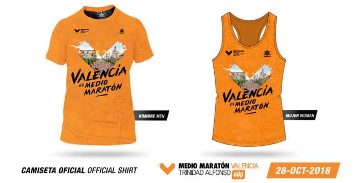 Camisetas Medio Maratón Valencia 2018
