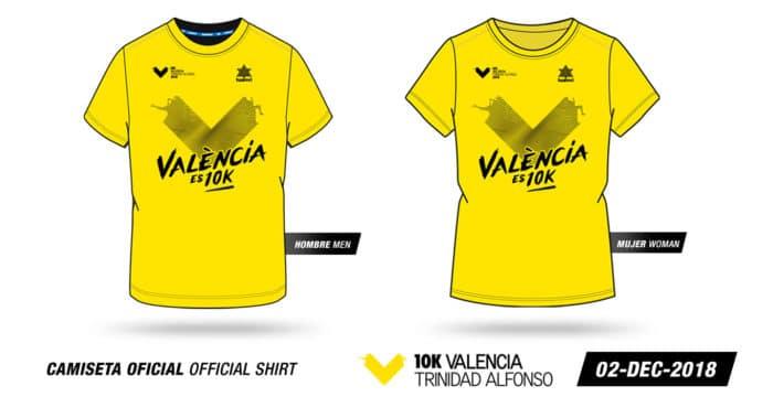 Camisetas 10K Valencia Trinidad Alfonso
