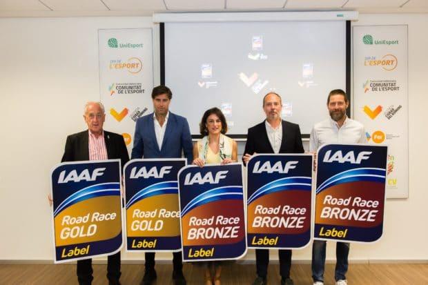 Valencia, la ciudad del mundo con más etiquetas de la IAAF