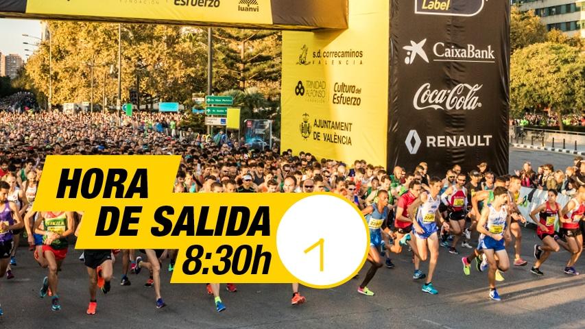 Hora Salida 10K Valencia Trinidad Alfonso