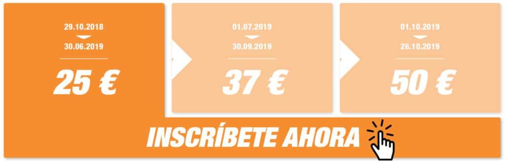 Inscripciones Precio Medio Maratón Valencia 2019