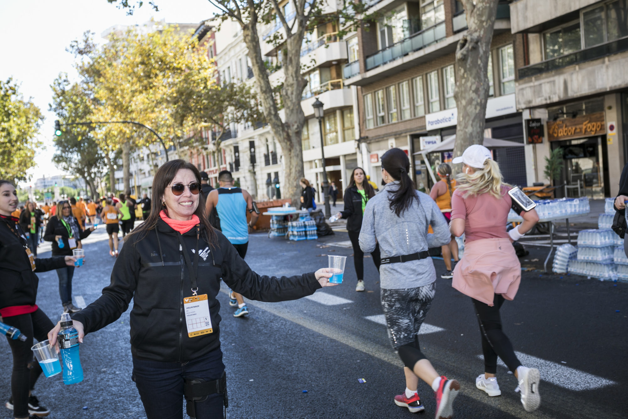 Voluntarios medio maratón