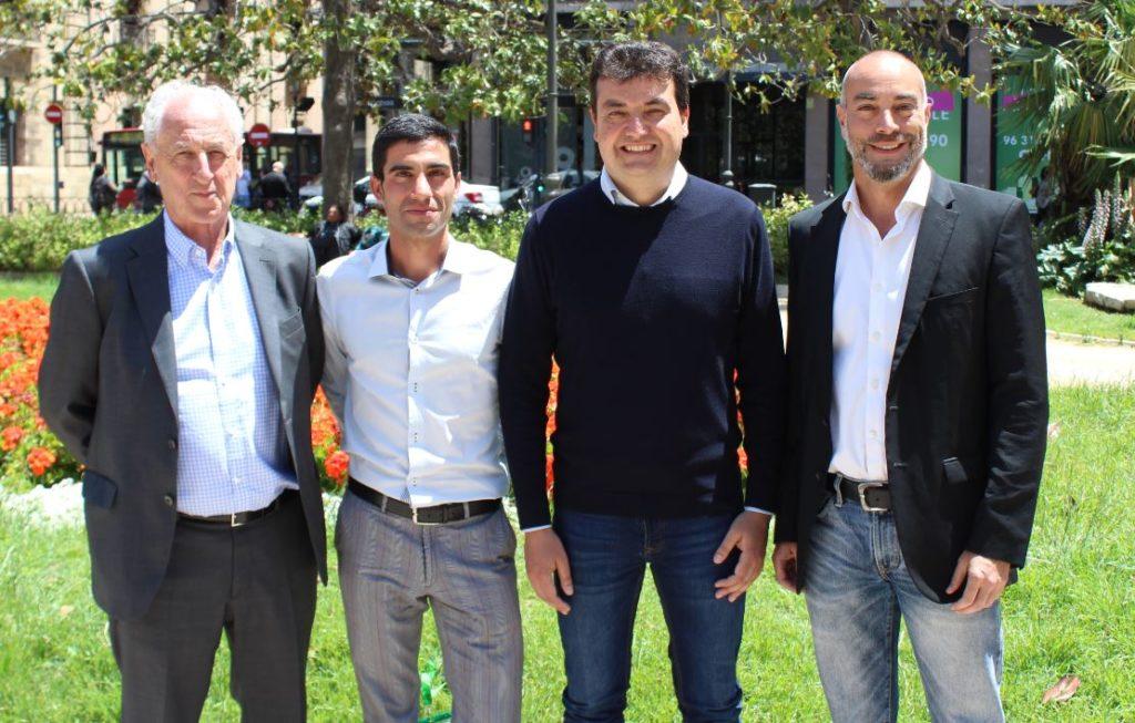Paco Borao, Marc Roig, Redolat y Juan Botella
