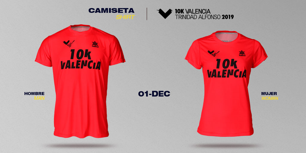 Shirt for the 10-km Valencia Trinidad Alfonso EDP Race