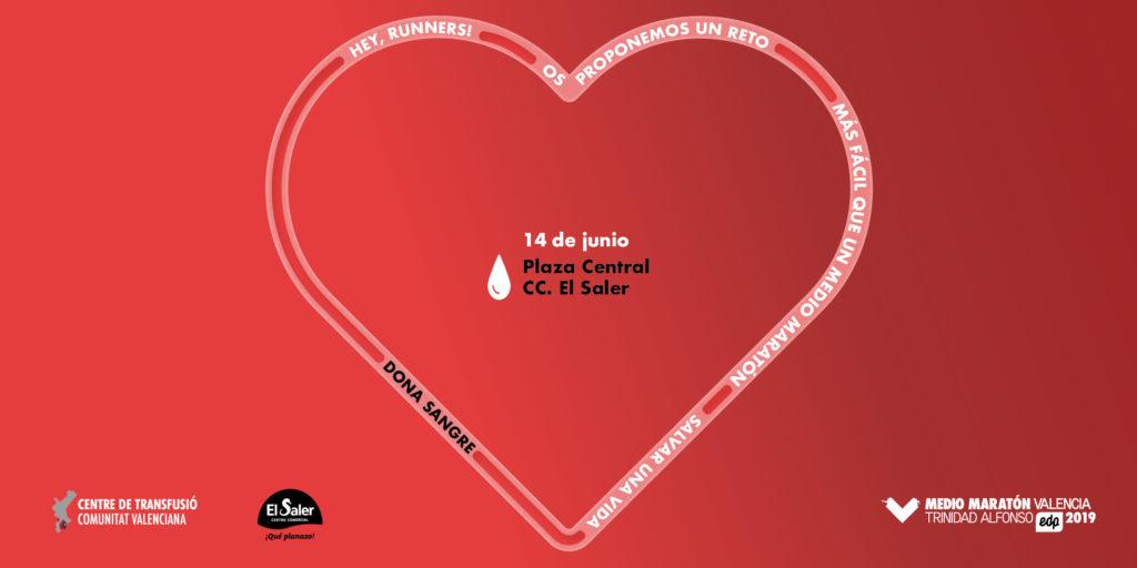 Corre    a salvar una vida - Donación de sangre