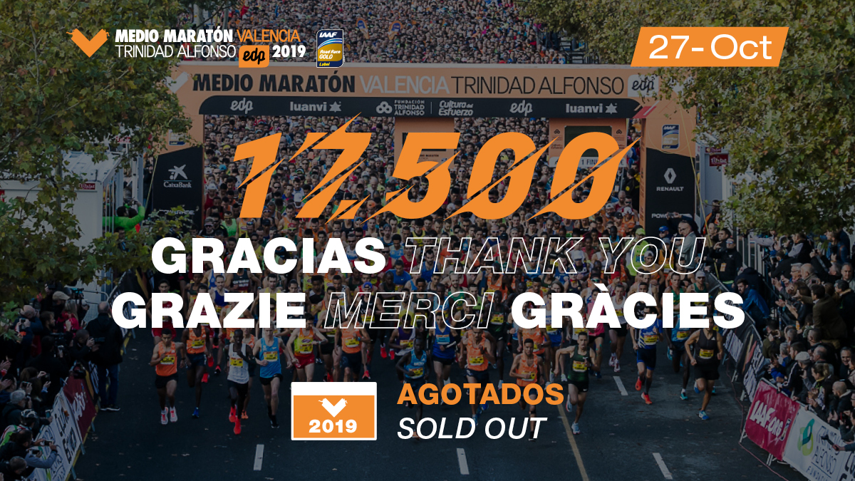Closure of entries for the Valencia Half-Marathon 2019