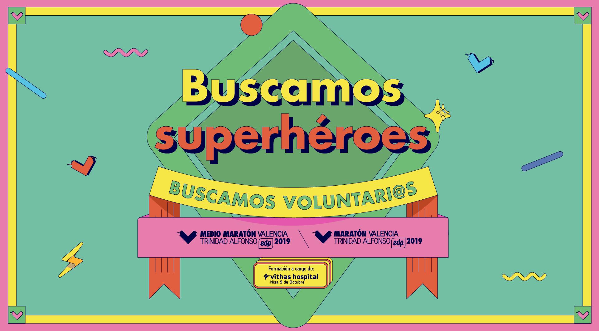 Buscamos superhéroes - Buscamos voluntarios