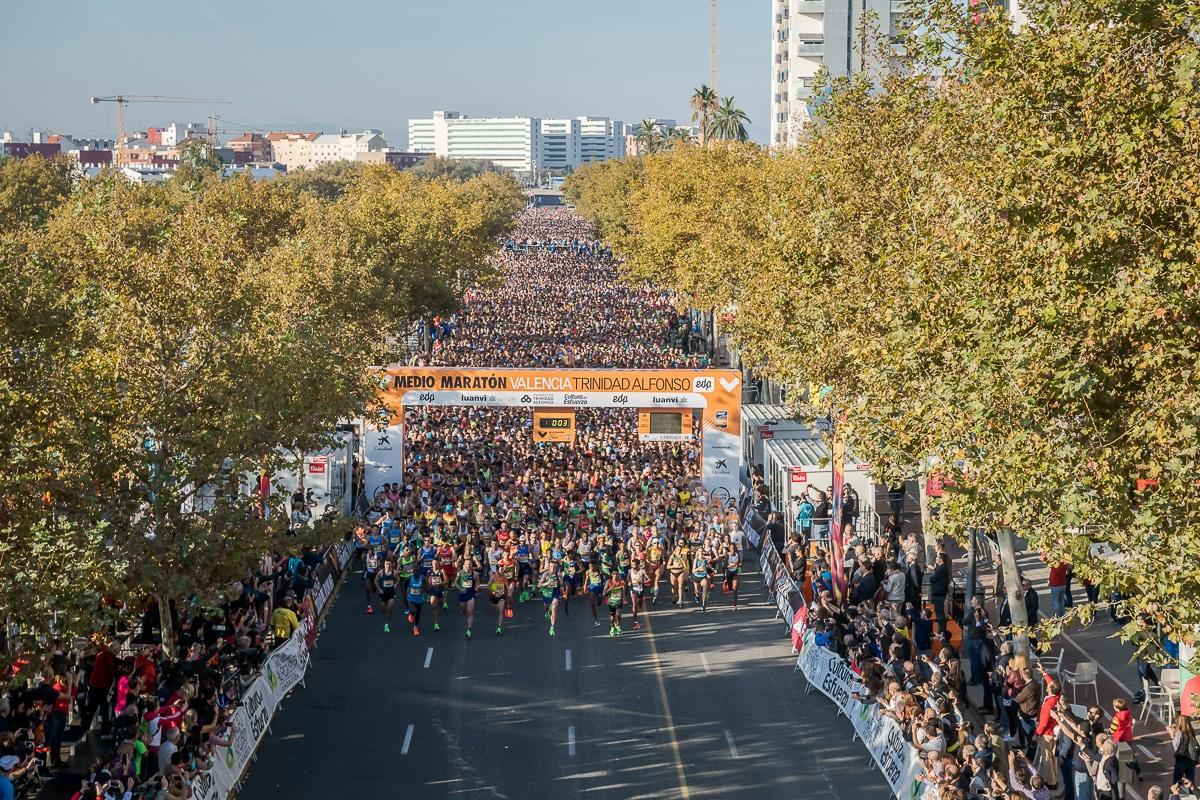 Salida Medio Maratón Valencia 2019