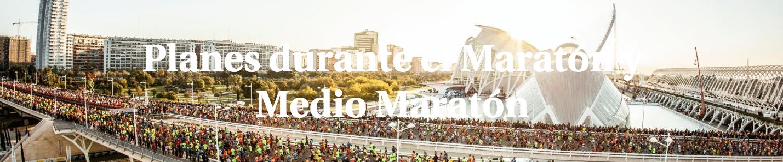 Planes durante el Maratón y Medio Maratón