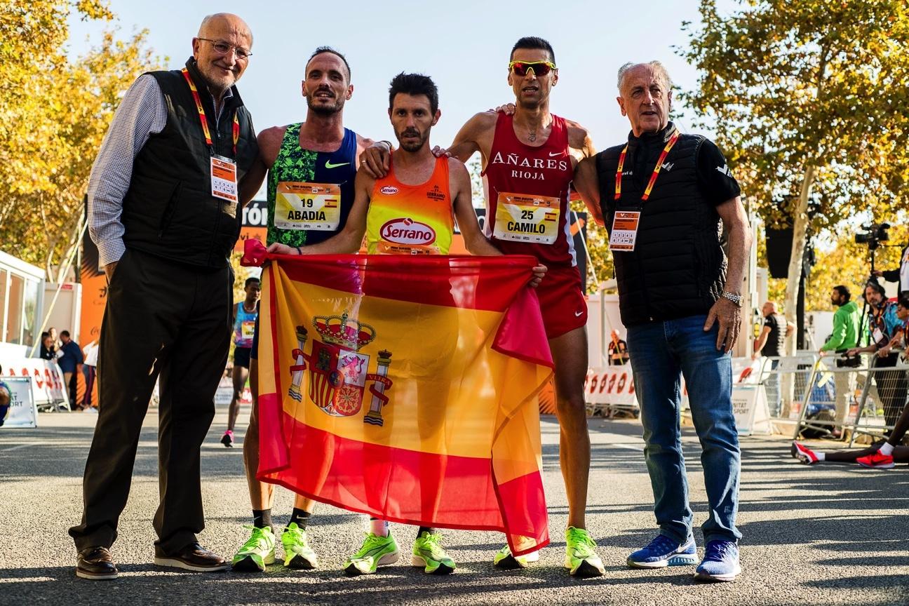 Primeros atletas españoles - Medio Maratón Valencia Trinidad Alfonso EDP