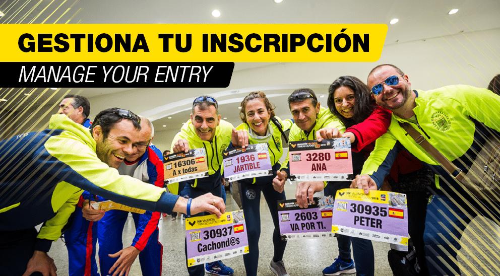 Gestiona tu Inscripción - 10K Valencia Trinidad Alfonso