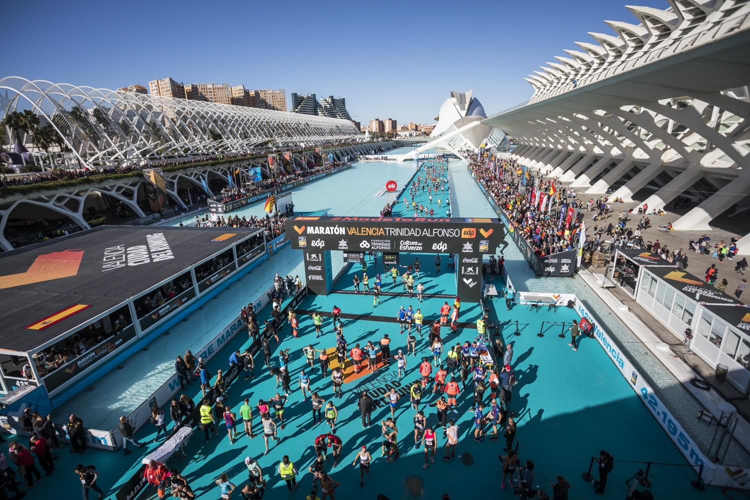The Valencia Marathon Finish