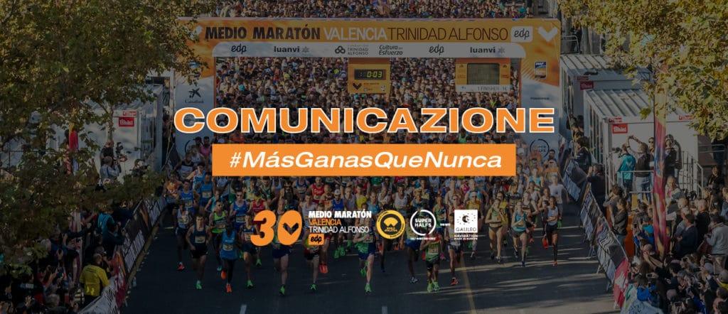 Comunicazione Mezza Maratona Valencia