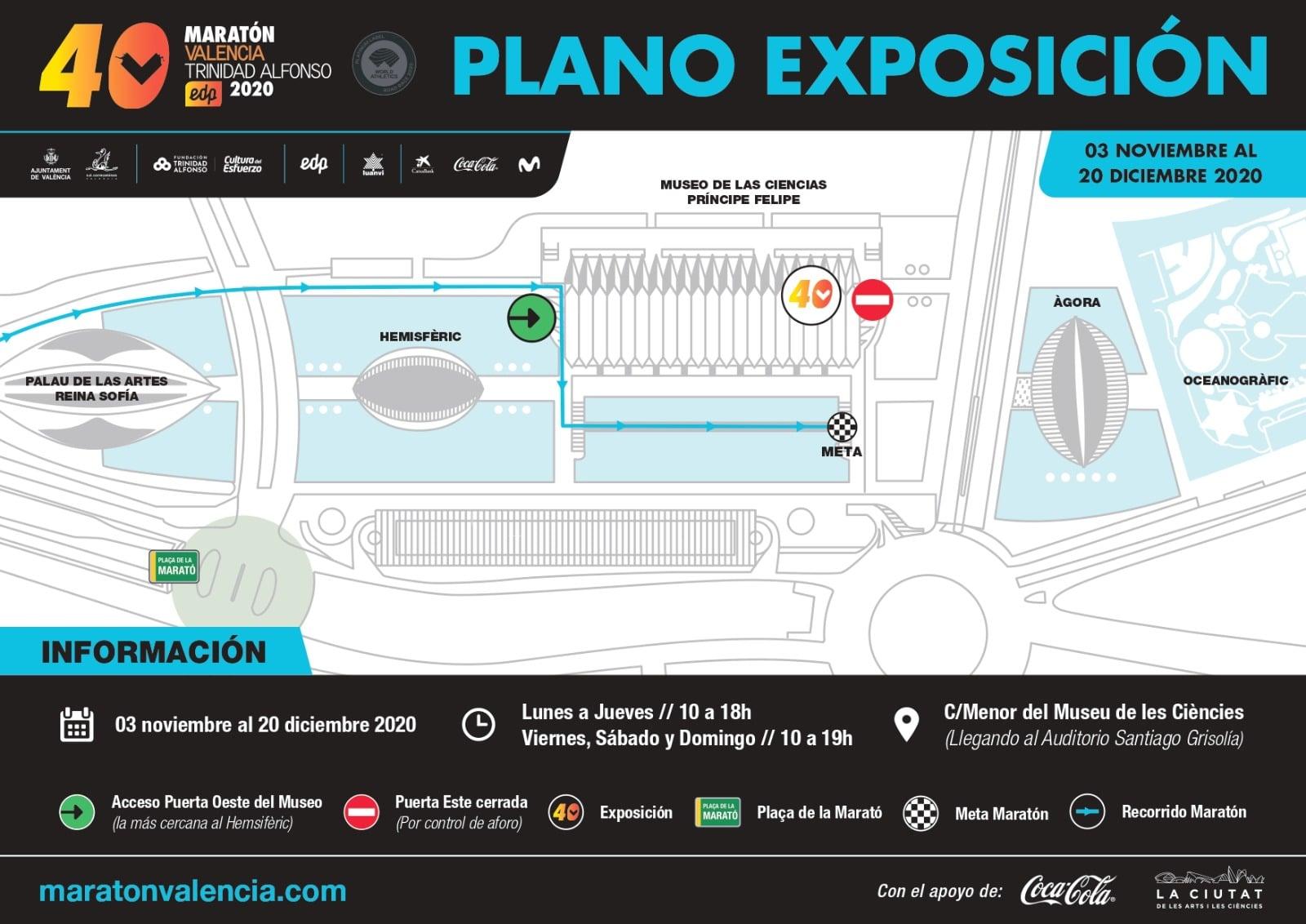 Plano exposición Maratón Valencia