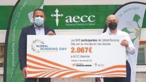 Cheque Global AECC RunCáncer